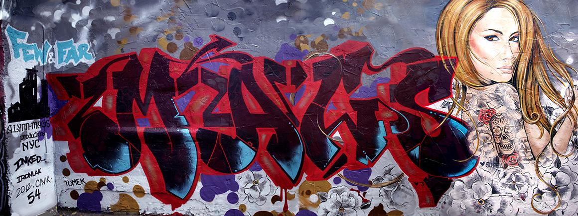 Alynn and Lady Mags street art in San  Ffrancisco