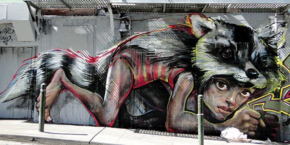 HeraKut  in Lower Polk Street Art Walk in San Francisco Tenderloin