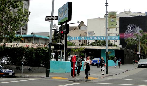Phoenix Hotel in Lower Polk Street Art Walk in San Francisco Tenderloin