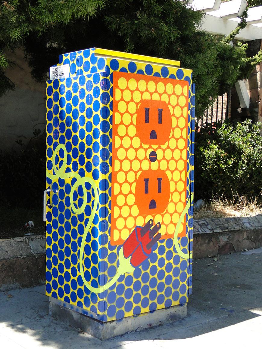Lisa Hoffman Street art utility boxes in Kono district  of Oakland, Ca