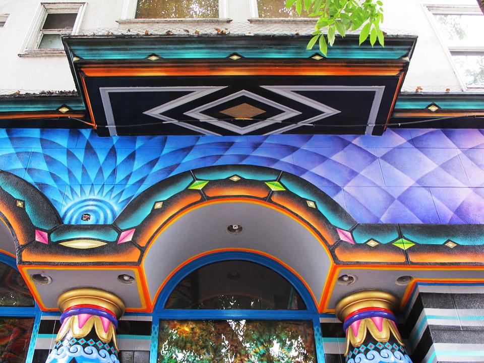 Xavi Panneton  mural in San Francisco Haight
