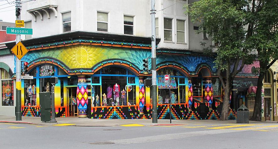 Xavi Panneton  mural in San Francisco Haight at Masonic