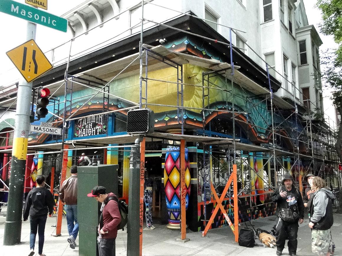 Xavi Panneton street art mural in San Francisco Haight