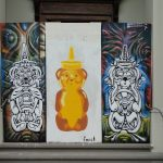 Fnnch street art stencil Honey Bear in San Francisco