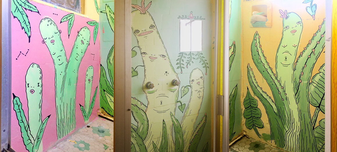 Oakland based Filthcakes Danielle O'Malley street art in Mexico