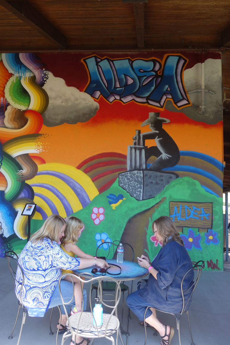 Childrens mural at Jamieson Ranch Winery in Napa