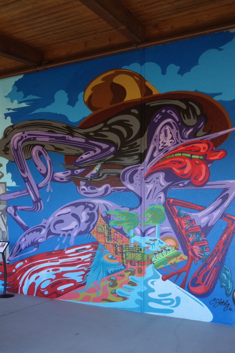 Chris Jehly art at Fresh Paint at Jamison Ranch Winery in Napa, CA