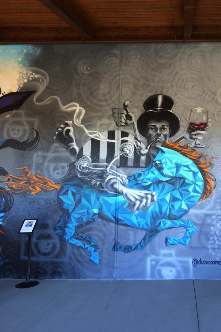 Ducexone art at Fresh Paint at Jamison Ranch Winery in Napa, CA