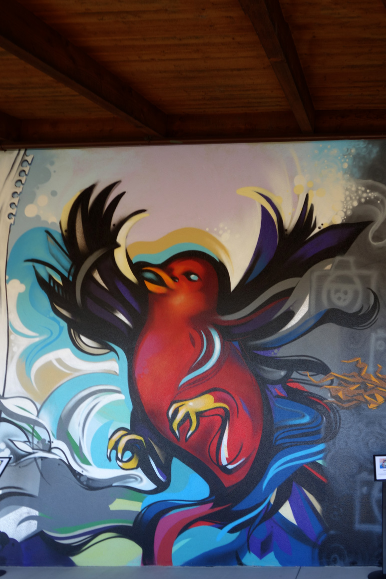 Megan Spendlove art at Fresh Paint at Jamison Ranch Winery in Napa, CA