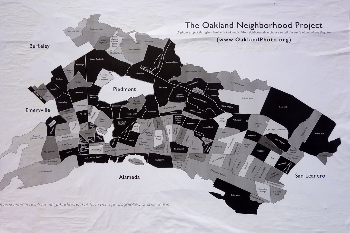 Map of 146 neighborhoods in Oakland
