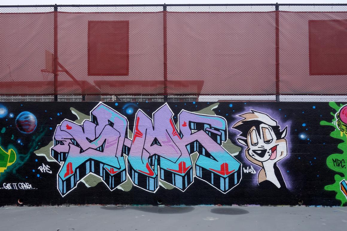 Shok WOD graffiti crew