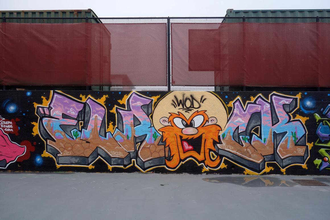 Elrock WOD graffiti crew