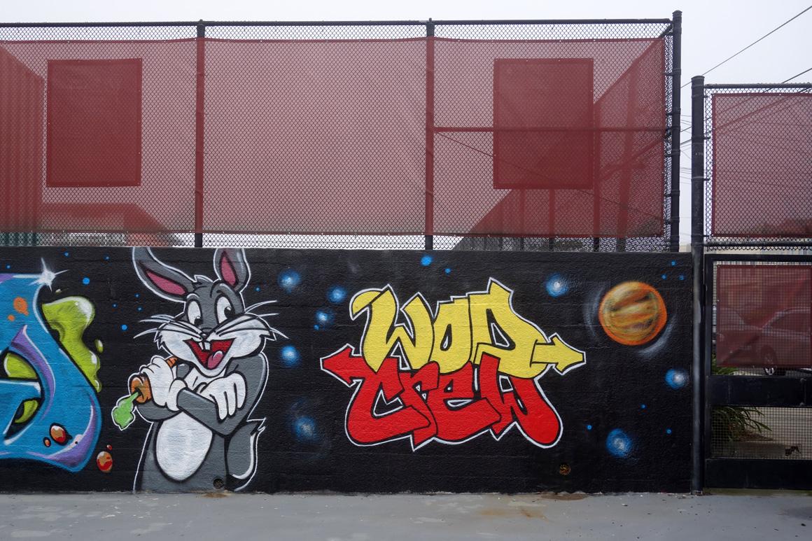 WOD graffiti crew at Lincoln High School in San Francisco, Ca