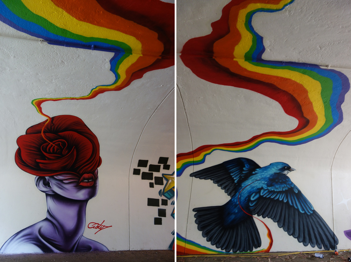Ernest Doty Lords graffiti at the Polo Fields Tunnel at Outside Lands 2016 San Francisco
