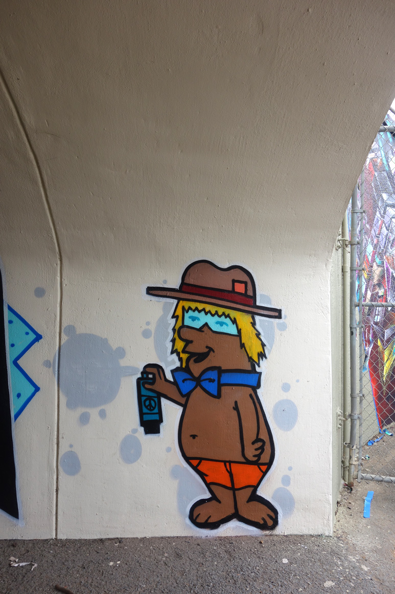 Sworne Lords graffiti in Polo field Tunnel at Outside Lands 2016 San Francisco