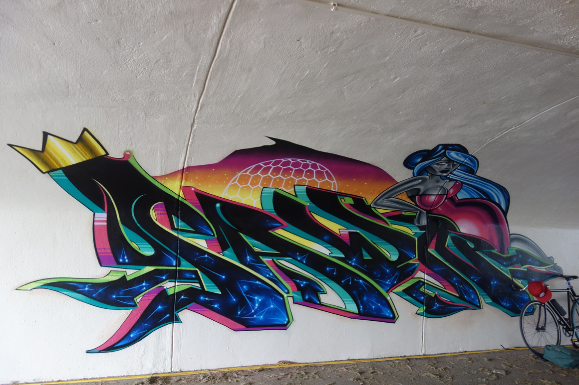 Pawn Lords graffiti at Polo Field Tunnel at Outside Lands 2016 San Francisco