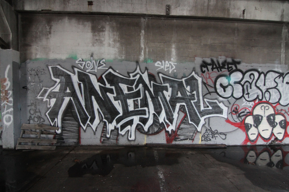 Anemal AF graffiti in Oakland, CA in San Francisco Bay ARea