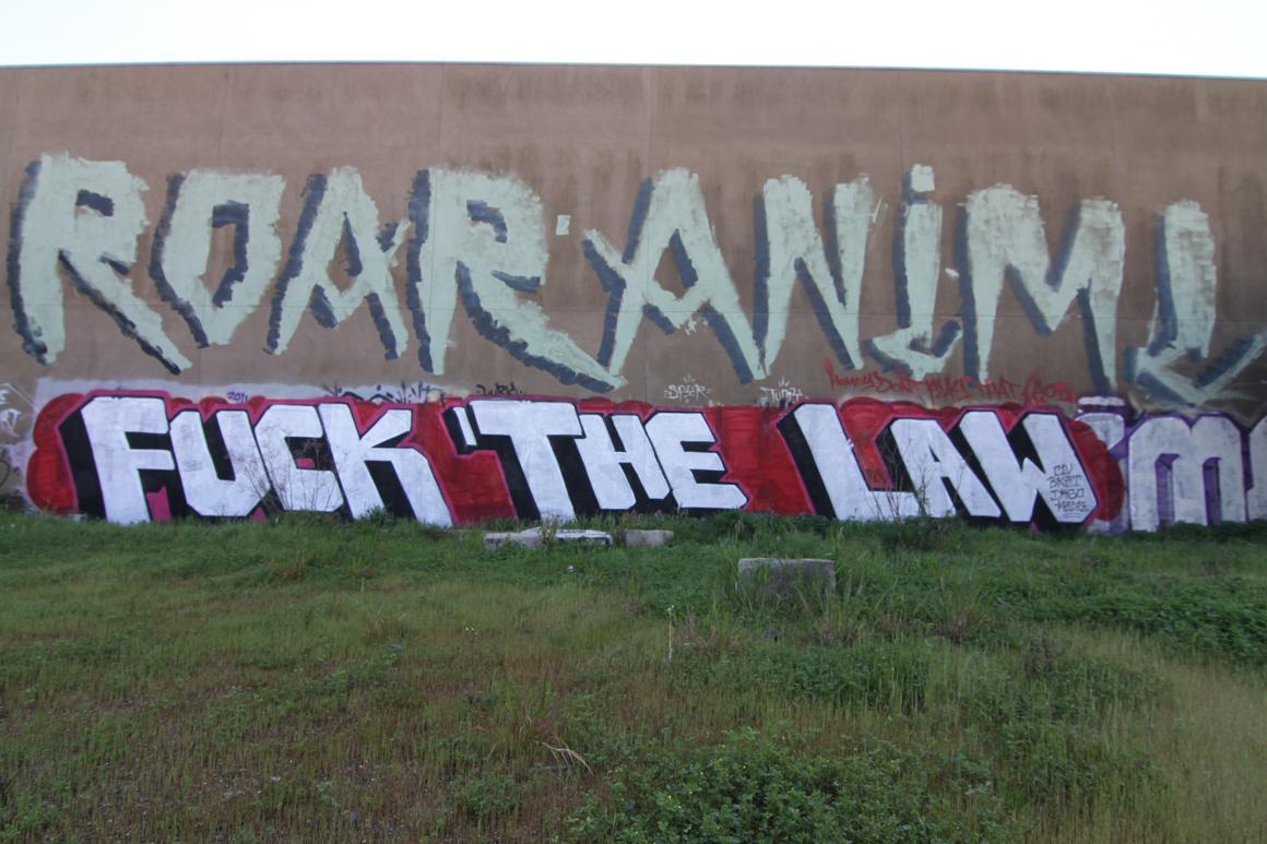 Anemal AF graffiti in Oakland, CA in San Francisco Bay Area