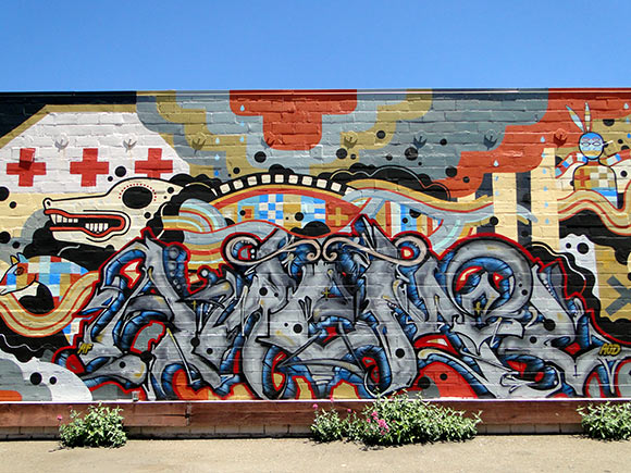 2012 Anemal AF Graffiti in Oakland, CA in San Francisco Bay Area. Photo by Streetartsf