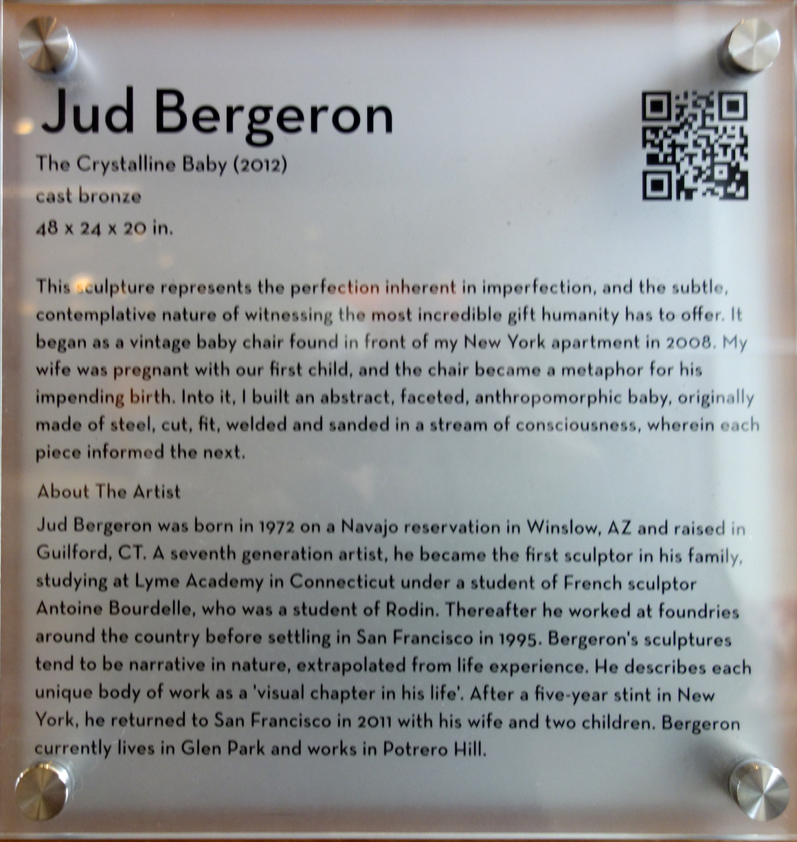 Jud Bergeron San Francisco artist at Grand Hyatt Hotel