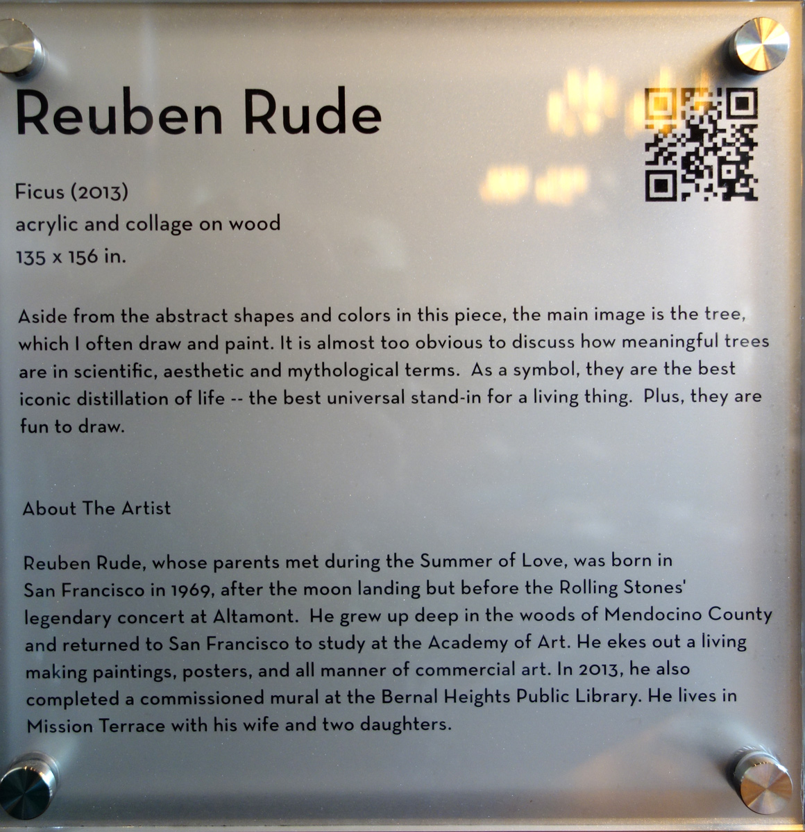 Reuben Rude San Francisco artist at Grand Hyatt Hotel