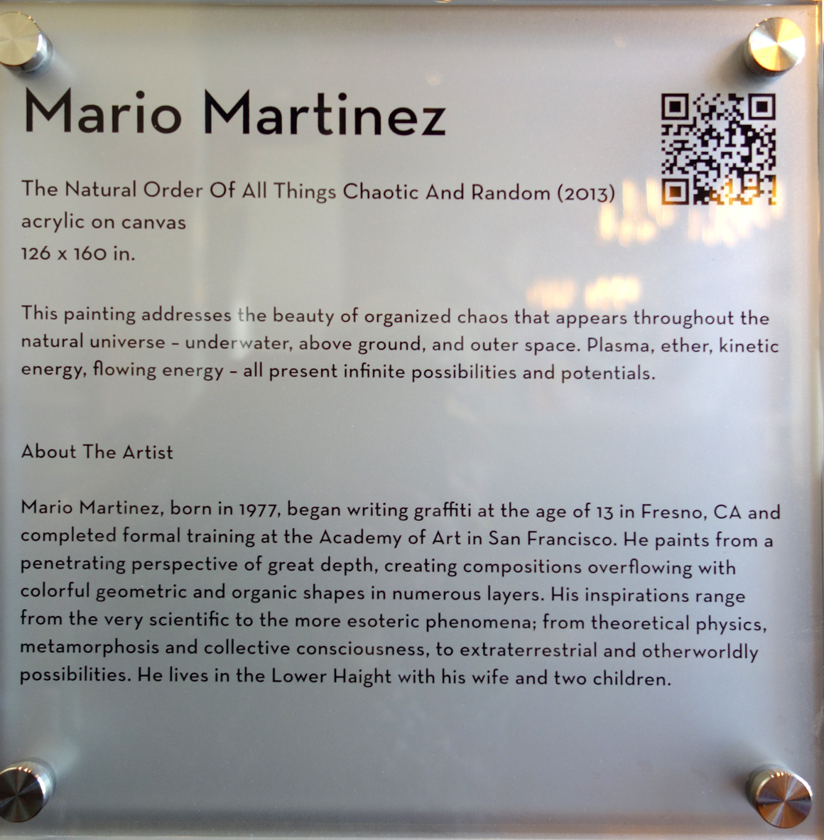 Mario Martinez San Francisco artist at Grand Hyatt Hotel