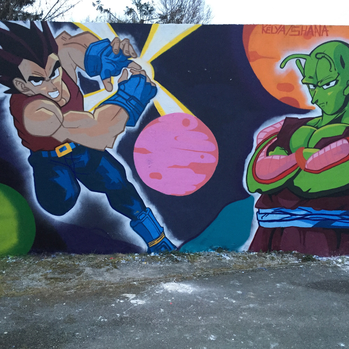French artist K2 Color your life street art DBZ3 in Boege France