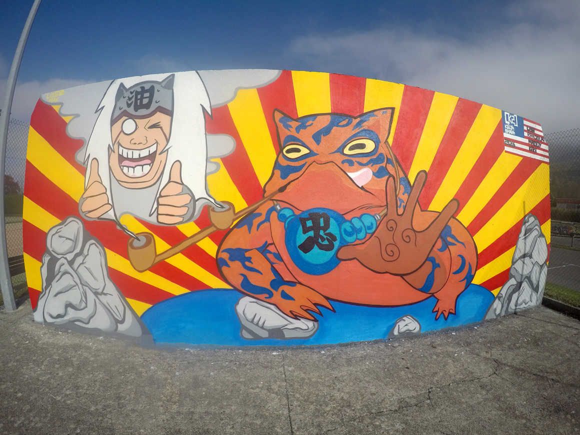K2 color your life street art sf for Mural naruto