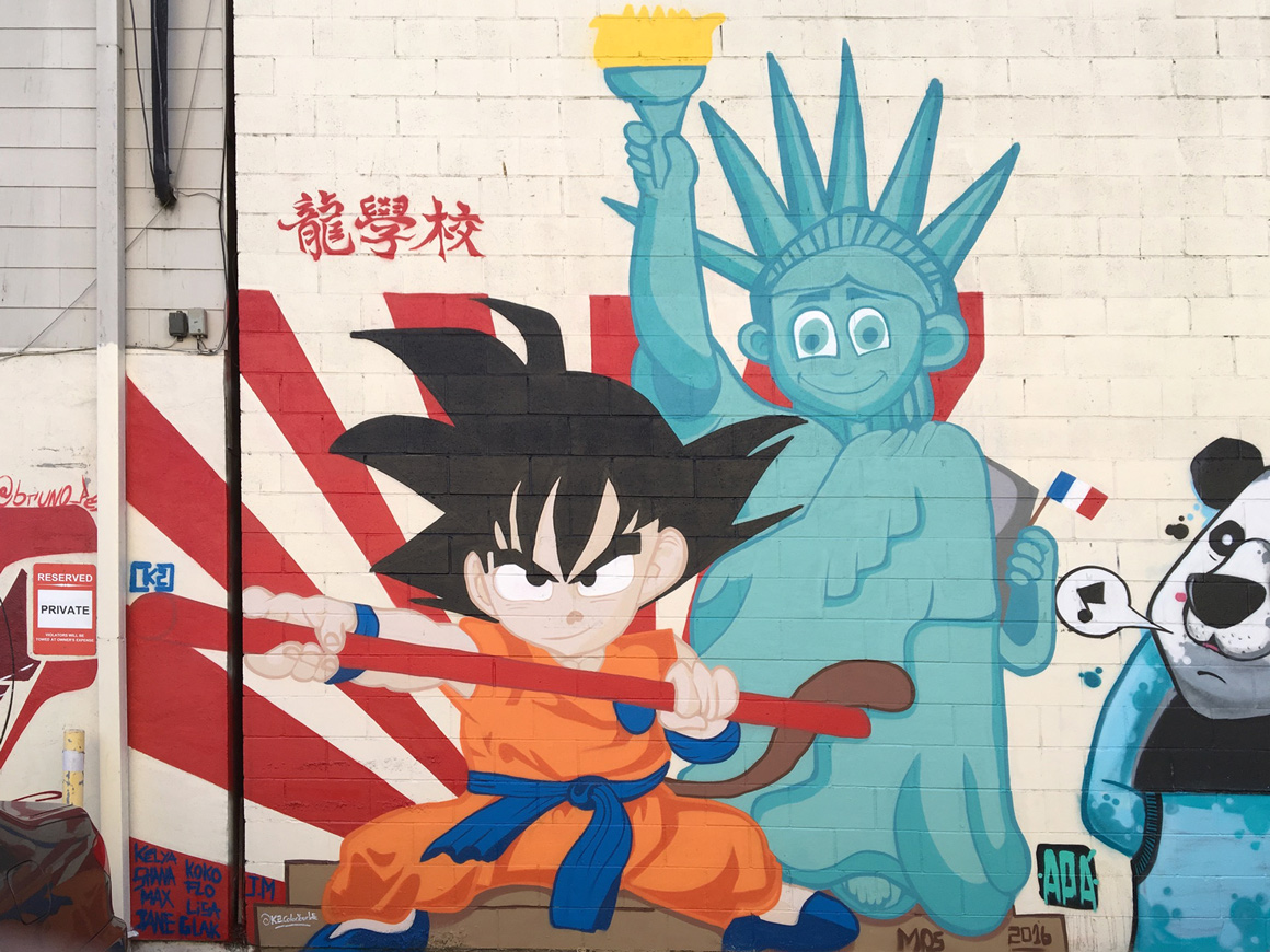French artist k2 color at san francisco meeting of styles in oakland chinatown ca