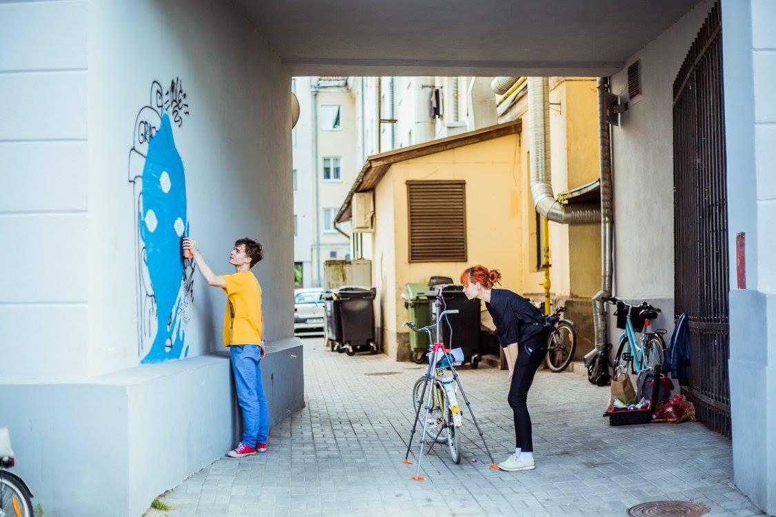 """Estonian company SprayPrinter in Third Eye"""" by an Estonian artist Kärt Einasto"""