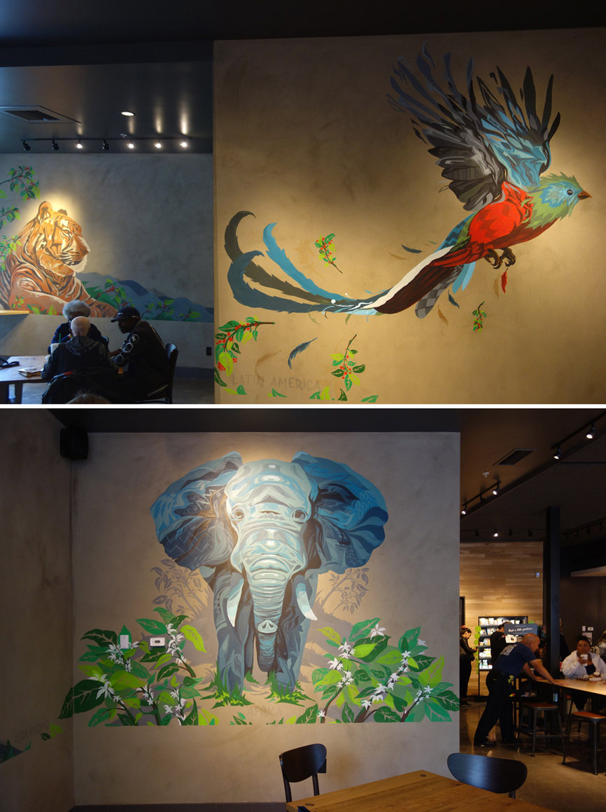 Cameron Moberg (Camer1) art at Bayview Starbucks in San Francisco, CA