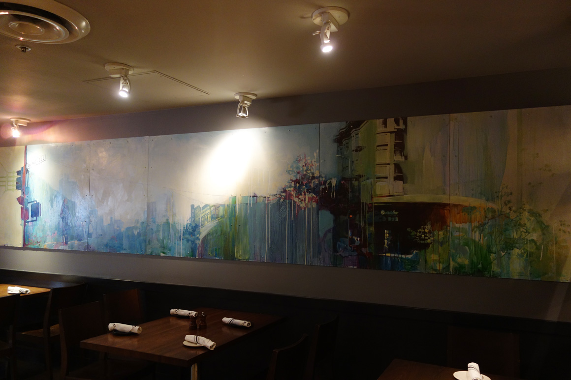 Kristin Kyono art Jasper's Corner Tap in San Francisco Tenderloin District