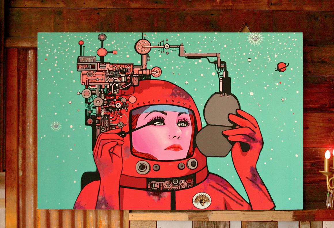 San Francisco based Locust Primitive Tribes painting