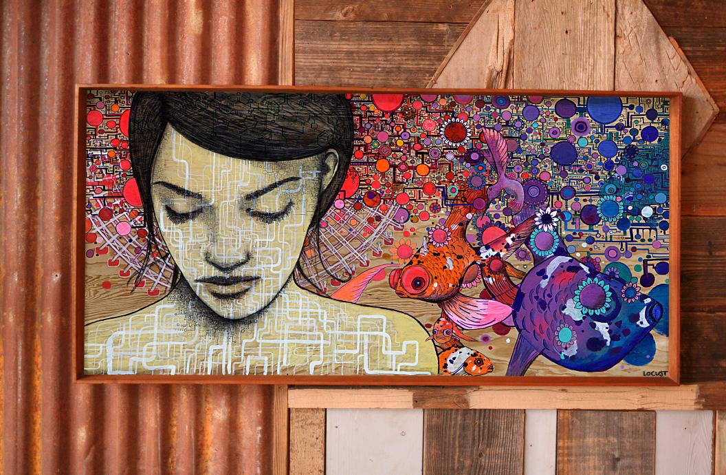 San Francisco based Locust Songs paintings
