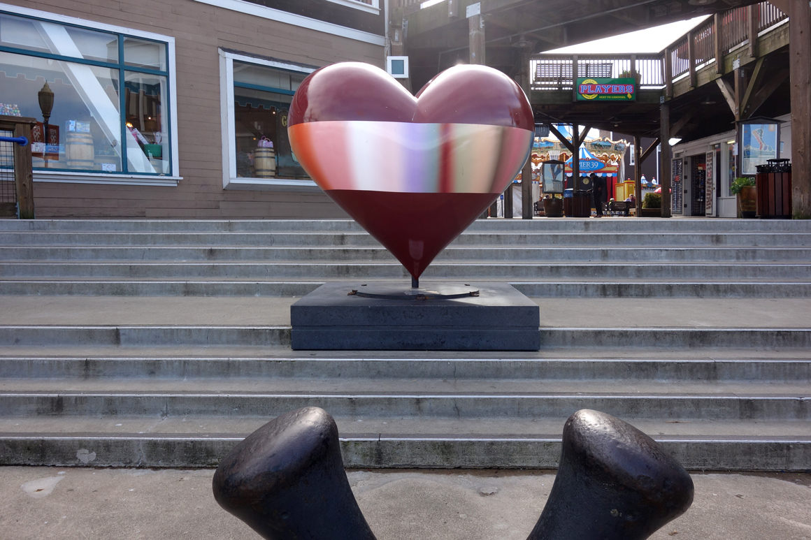 Open Heart by Patrick Dintino Pier 39 Hearts of San Francisco