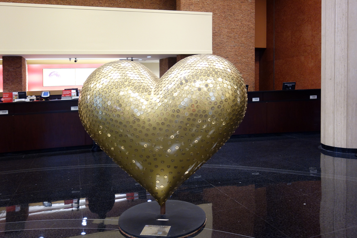 Heart of the Gold Country by Michael Osborne at 464 Californa St Wells Fargo Bank Hearts of San Francisco