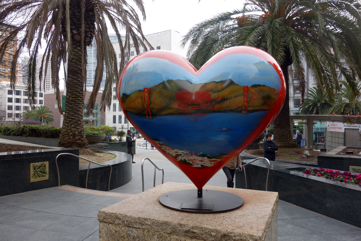 America's Greatest city by the Bay by Tony Bennett at Union Square Hearts of San Francisco