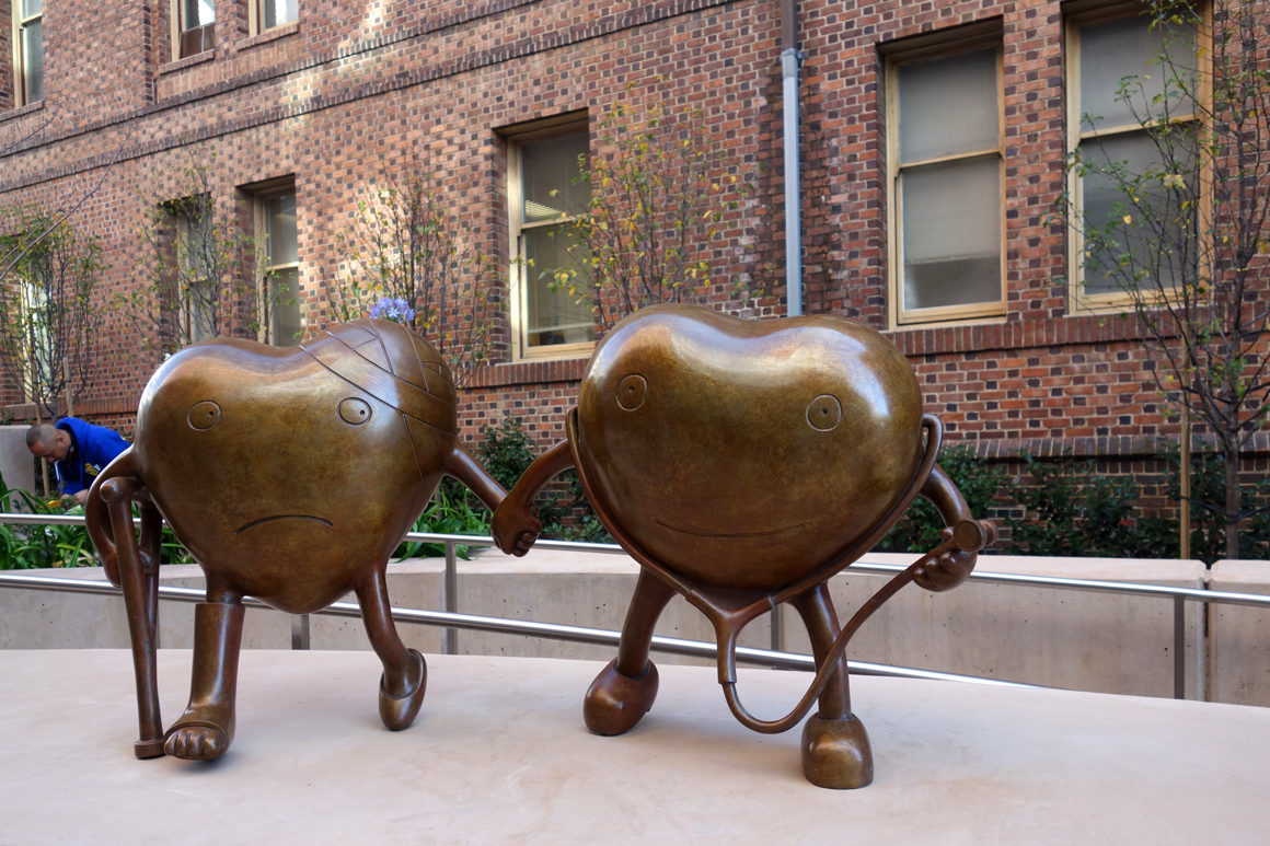 TOM OTTERNESS bronze sculptures at San Francisco General Hospital